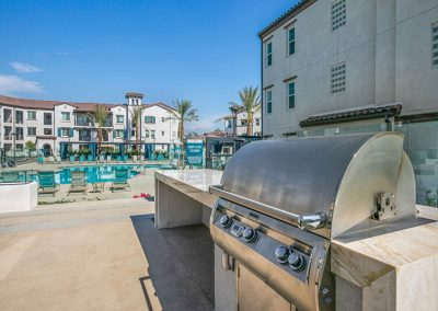 The Crossings of Chino Hills outdoor bbq close to the pool