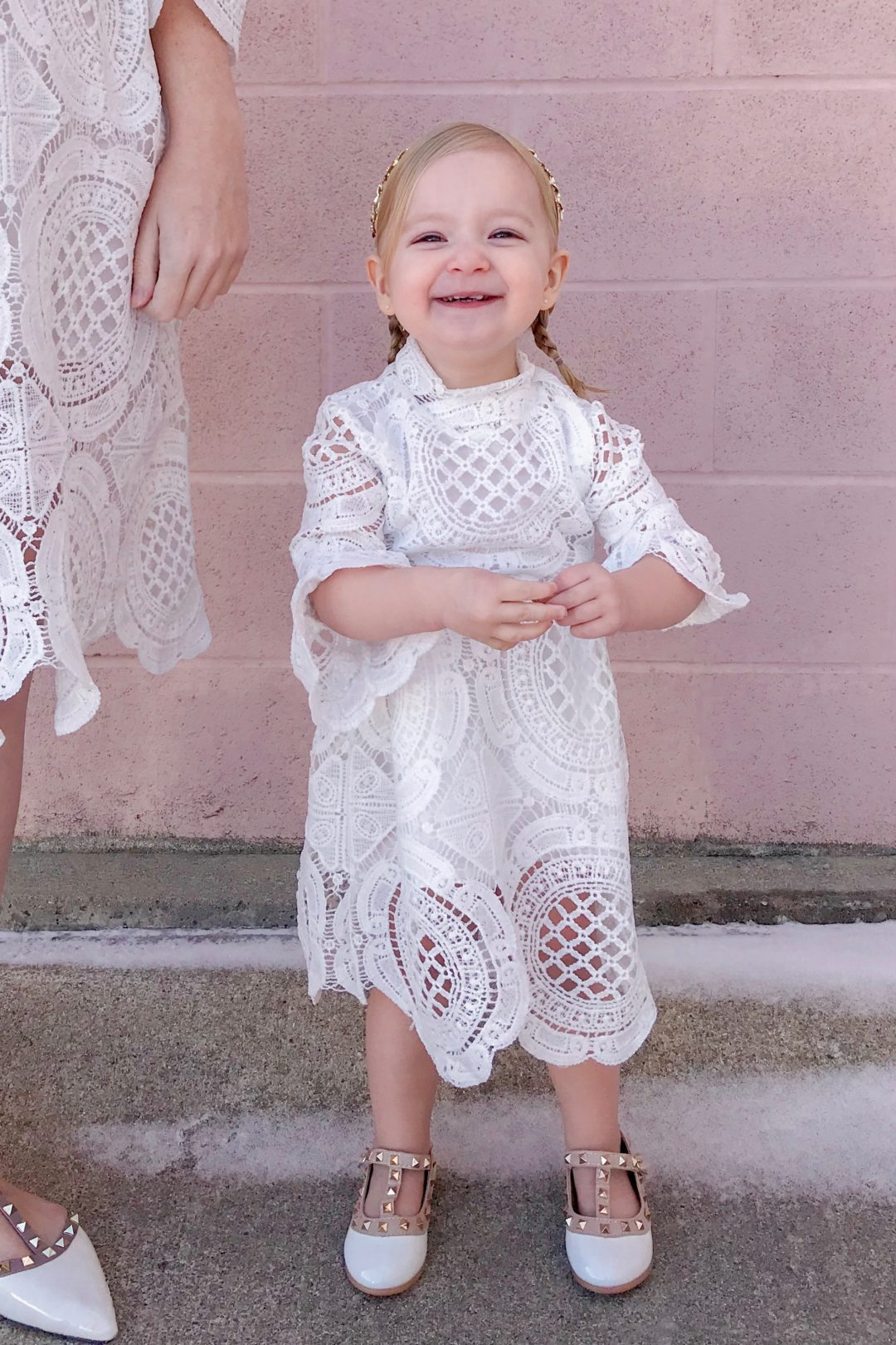 White Crochet Lace Dress 3