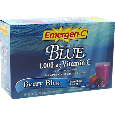 Alacer Emergen-C Blue 1,000 mg 30 Count