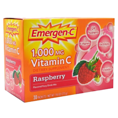 Alacer Emergen-C Raspberry 1000 mg 30 Count