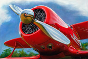 Airplane Art Print|Rhapsody in Red
