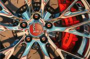 Corvette Car Art|Red Vette