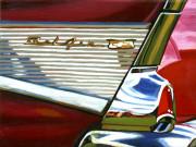 Chevy Car Art Print|Bel Air Fin
