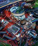 Chevrolet Car Art Print|Merle's Camaro