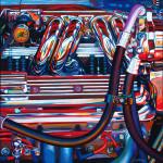 Chevrolet Car Art Print|All Fired Up