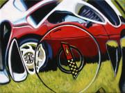 Chevrolet Car Art Print| Corvette Hubcap