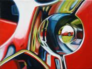 Chevrolet Car Art Print| Corvette Wheel Nut