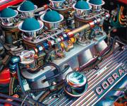 Shelby Cobra Car Art Print|Hiss