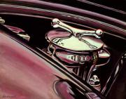 Bentley Car Art Print  Bentley Gas Cap