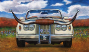 Rolls-Royce Car Art Print  Texas Long Horn