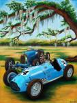 Bugatti Talbot-Lago Car Art Print  Live Oaks Concours