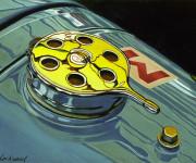 Bugatti Car Art Print Bugatti Tipo Gas Cap