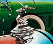 Pierce-Arrow Car Art Print|Pierce-Arrow Hood Ornament