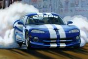 Dodge Car Art Print|Burnout