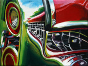 Cadillac Car Art Print|Cadillac Rear Lights