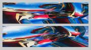 Cadillac Car Art Prints Blue Skies and Chrome