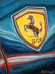 Ferrari Car Art Print|Ferrari Badge