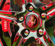 Ferrari Car Art Print Prancin' Horse