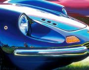 Ferrari Car Art Print|Blue Ferarri Dino