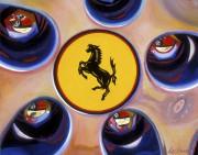 Ferrari Car Art Print|Ferrari Wheel