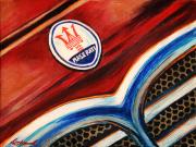 Maserati Car Art Print|Maserati Badge