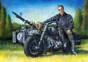 BMW Motorcycle Art Print|Portrait of Vech