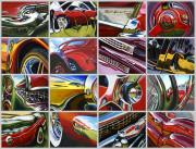 Car Art Print Assembly Line