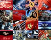 Car Art Print Auto Logos