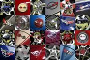 Corvette Car Art Print Corvette Wheels-Logos