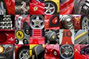 Ferrari Car Art Print Ferrari Wheels-Logos