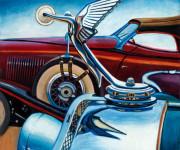 Isotta Fraschini Car Art Print|Isotta Fraschini Hood Ornament