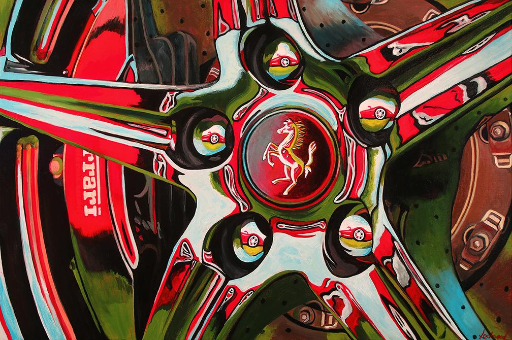 Ferrari Car Art|Prancin' Horse