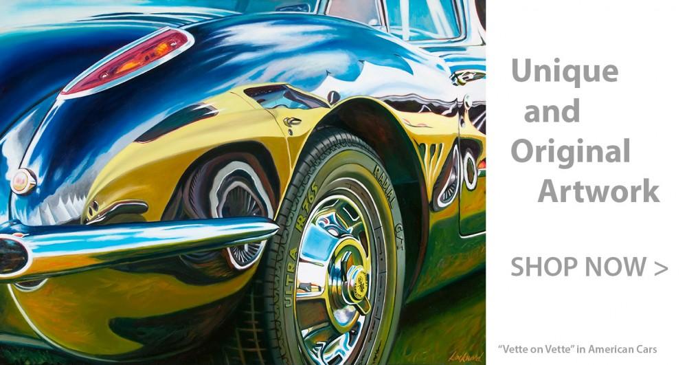 Chevrolet Car Art Print|Vette on Vette