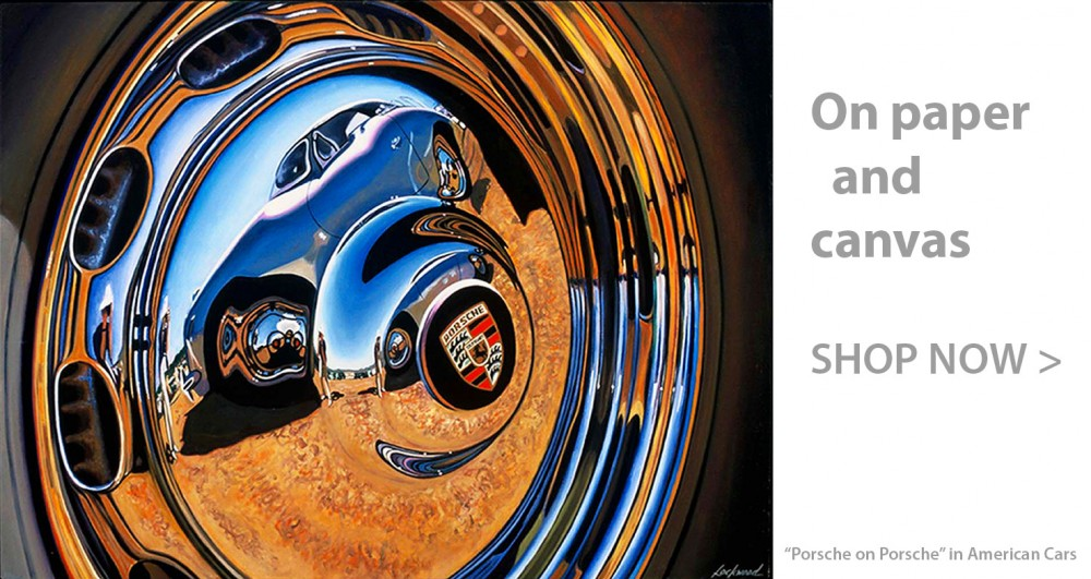Porsche Car Art Print|Porsche on Porsche