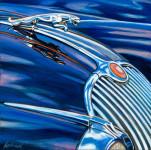 Jaguar Car Art Print|Jaguar XK150 Hood Ornament