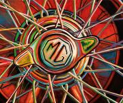 MG Car Art Print MG TD Wheel