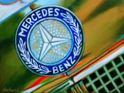 Merceds Benz Car Art Print|Mercedes Badge