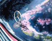 Mercedes Benz Car Art Print|Mercedes Hood Ornament