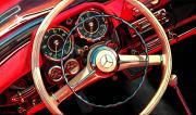 Mercedes Benz Car Art Print|Mercedes 190SL Roadster Dash