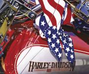 Harley Davidson Motorcycle Art Print|American Dream