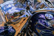 Harley Davidson Motorcycle Art Print|Partly Cloudy in Daytona