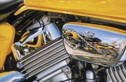 Harlet Dividson Motorcycle Art|Matched Pair