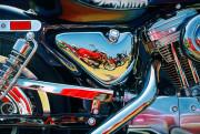 Harley Davidson Motorcycle Art Print|Power Up