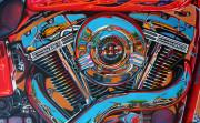 Harley Davidson Motorcycle Art Print|Screamin' Eagle