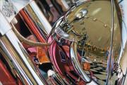 Harley Davidson Motorcycle Art Print|Showroom