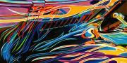 Abstract Car Art Print|Burning Bright