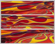 Abstract Car Art Print|Hot Rod Flames