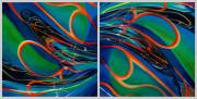 Abstract Car Art Print|Cross Currents