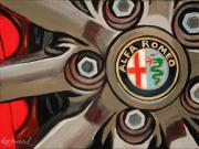 Alfa Romeo Car Art Print|Alfa Wheel