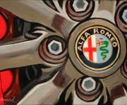Alfa Romeo Car Art Print Alfa Wheel